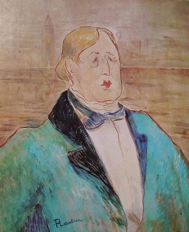 44 Toulouse-Lautrec - ritratto di Oscar Wilde