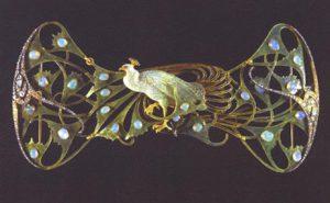René Lalique, Gioiello pavone, 1898
