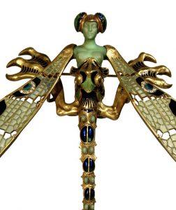 René Lalique, Spialla a libellula, dettaglio
