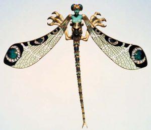 René Lalique, Spilla a libellula, 1897-1898