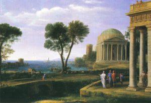 Claude Lorrain Paesaggio con Enea a Delo 1672