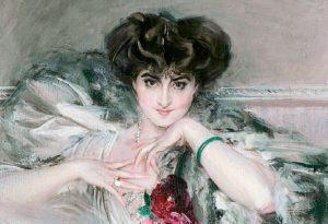 Giovanni Boldini, Ritratto dell principessa Marie Radziwill, dettaglio, 1910