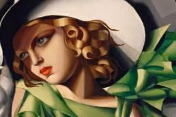 Tamara de Lempicka, Ragazza in verde, dettaglio, 1932