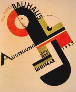 Joost Schimidt, Manifesto realizzato per la collettiva del Bauhaus a Weimar, 1923