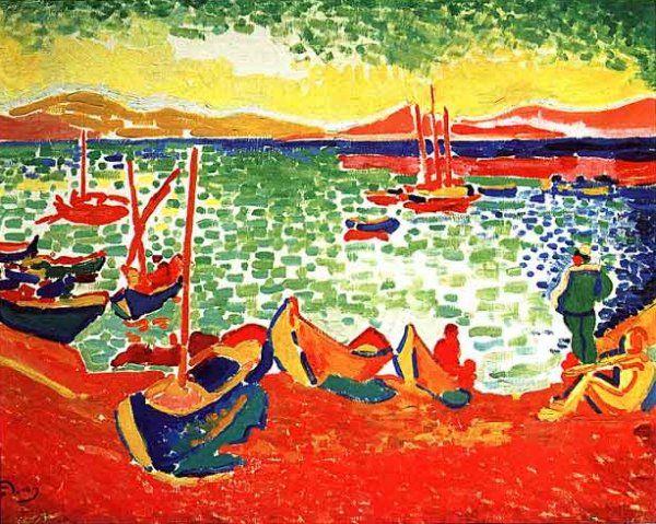 André Derain, Barche nel porto di Collioure, 1905