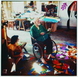 Henri Matisse nel suo studio, 1953