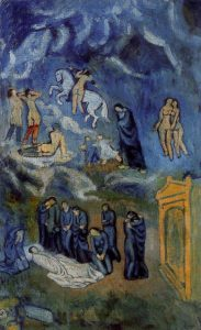 Pablo Picasso, Evocazione - La sepoltura di Casagemas, 1901