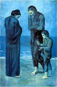 Pablo Picasso, Poveri in riva al mare, 1903