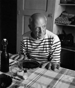 Robert Doisneau, Le mani di pane di Picasso, 1952