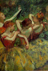 Edgae Degas, Quattro ballerine