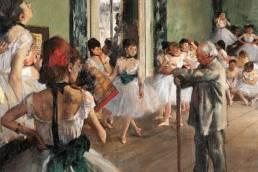Edgar Degas, La lezione di danza, dettaglio, 1873-1875