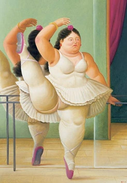 Fernando Botero, Ballerina alla sbarra, 1988