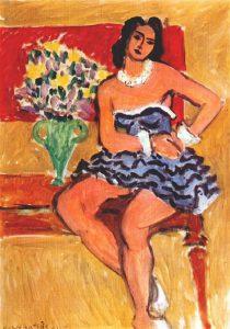 Hanri Matisse, Ballerina in tutù blu, 1942