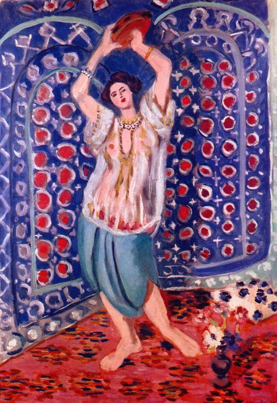 Henri Matisse, Odalisca con tamburello 1923-1924