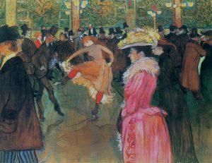 Henri de Toulouse-Lautrec, Ballo al Moulin Rouge, 1890