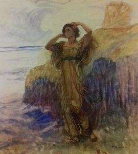 Plinio Nomellini, La donna dei fiori, 1910