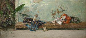 Marià Fortuny y Marsal, I figli del pittore nel salotto giapponese, 1874