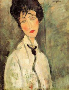 Amedeo Modigliani, Ritratto di donna con cravatta nera, 1917