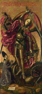 Bartolomé Bermejo, San Michele trionfa sul demonio, 1498