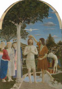 Piero della Francesca, Battesimo di Cristo, 1440-1460
