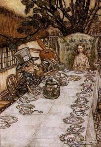 Arthur Rackam, Alice at the Mad Hatter's Tea Party, 1907