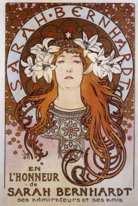 Alphonse Mucha, Manifesto per Sarah Bernhardt, 1896
