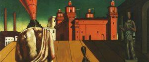 Giorgio De Chirico, Le muse inquietanti, dettaglio, 1917