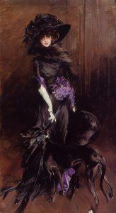 Giovanni Boldini, La Marchesa Luisa Casati con un levriero, 1908