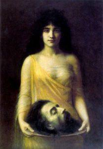 Jean Benner, Salomè con la testa di Giovanni Battista, 1899