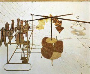 Marcel Duchamp, Il Grande Vetro, 1915-1923, dettaglio della parte inferiore