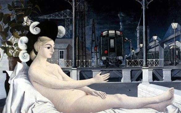 Paul Delvaux, L'età del ferro, 1951