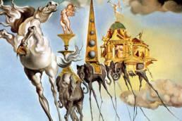 Salvador Dalì, La tentazione di sant'Antonio,dettaglio, 1946