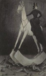 Alfred Kubin, La donna sul cavallo, 1901