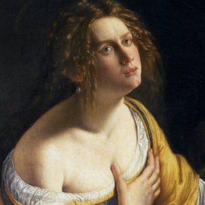 Artemisia Gemtileschi, Maddalena penitente, dettaglio, 1617-1620