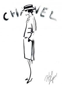 Coco Chanel, schizzo di Karl Lagerfeld