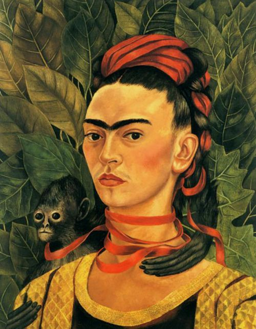 Frida Kahlo, Autoritratto con scimmia, 1940
