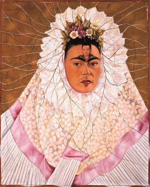 Frida Kahlo, Ritratto come una Tehuana o Diego nel mio pensiero, 1943