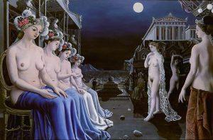 Paul Delvaux, Le grandi sirene, 1947
