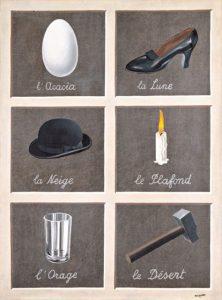 René Magritte, La chiave dei sogni, 1930