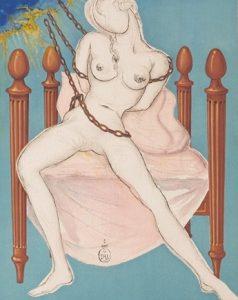 Salvador Dalì, litografia dalla serie Il Marchese de Sade, 1969