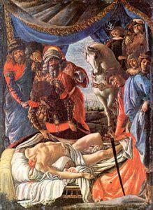 Sandro Botticelli, Scoperta del cadavere di Oloferne, 1472