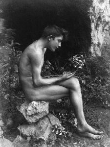 Wilhelm von Gloeden, Foto di ragazzo, 1890 circa