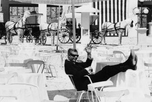 Marcello Mastroianni in Otto e mezzo