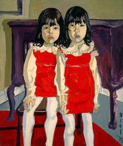 Alice Neel, Le gemelle De Vegh, 1975