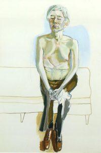 Alice Neel, Ritratto di Andy Warhol, 1970