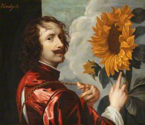 Antoon Van Dyck, Autoritratto con girasole, 1632-1633
