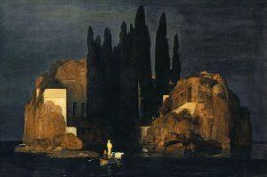 Arnold Böcklin, L'isola dei morti, prima versione, 1880