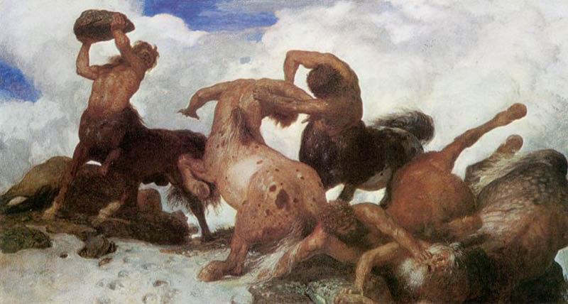 Arnold Böcklin, Lotta di centauri, 1872-1873