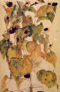 Egon Schiele, Girasoli, 1911