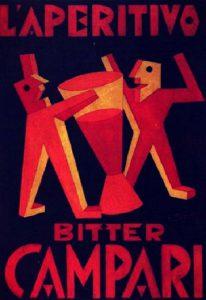 Fortunato Depero, Manifesto per l'aperitivo bitter campari, 1925